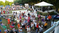 Sponsors such as Pepsi's Minges Bottling Company, Realo Discount Drug stores, & R.A. Jeffreys Distributing Company, & many others, make the summer concert series Sand in the Streets possible.