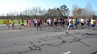 Pride's annual Run for the River attracts hundreds of local & visiting runner athletes who compete for cash & medals in Kinston 8000 8K race, & One Mile Fun Run.
