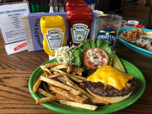 Cheeseburger - Topped with your choice of Cheddar, American, Provolone or Monterey Pepper Jack