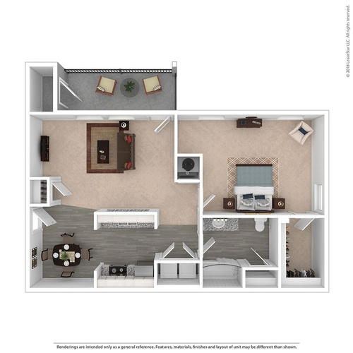 The Blakely 1 Bedroom 950 Sq. Ft.