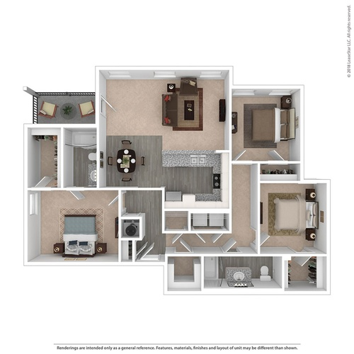 Floor plan The Tensaw 3 bdr