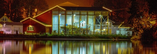 Harbor History Museum at Night