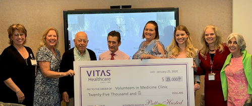 VITAS awarded the Volunteers in Medicine (VIM) in Stuart a grant of $25,000 to assist in providing free healthcare for those who have no access to care.