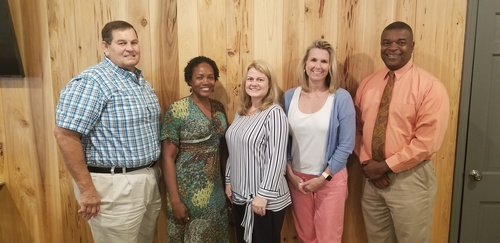From left to right: Kenneth Manwaring, Jennifer Green, Chairperson, Dr. Lisa Williams, Heather Stroh, Lt. Tim Watkins.
