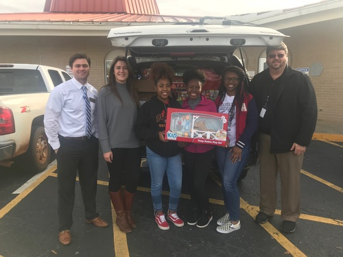 Thomasville High School students under the direction of teacher Janet Cable sponsored 18 DFCS children in 2018.