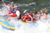 Fun and splashy, family friendly whitewater trips.