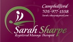 Sarah Sharpe, Registered Massage Therapist