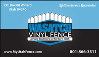 Wasatch  Vinyl Fence