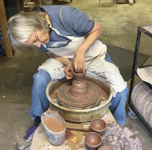 the potter at work!