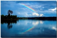 rainbow over Lake Hartwell