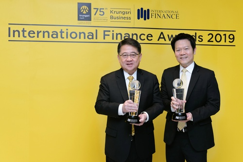 ''Best Corporate Bank - Thailand 2019'' and ''Best SME Bank - Thailand 2019'' awards from International Finance Awards 2019