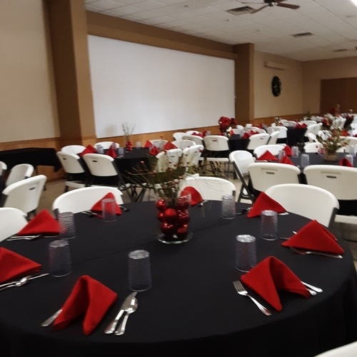 Place settings available to rent