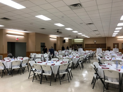 Tables and Chairs included with your venue rental