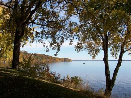Lakeview from a cabin in the fall.