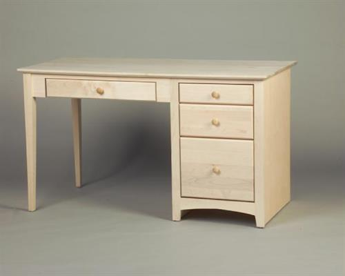 Unfinished Maple Shaker File Drawer Desk 21316
