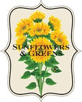 Sunflowers and Greens