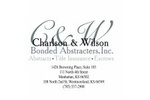 Charlson & Wilson Bonded Abstracters, INC.