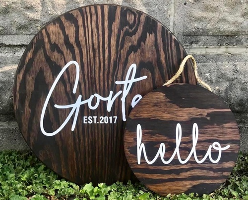 Handcrafted Adorable Wooden Signs at J&S Logos