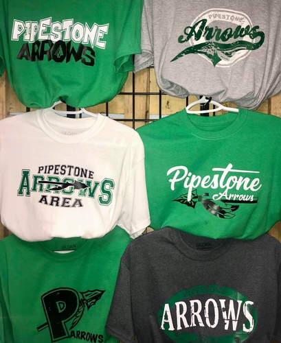 Pipestone Arrows gear available at J&S Logos & Embroidery