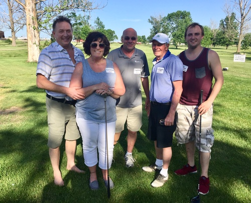 Hank's Foods Golf Team at the 2017 Chamber Golf Classic - Photo by Erica Volkir