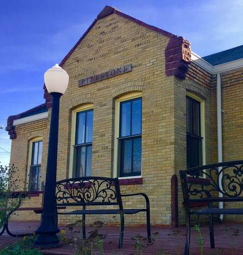 Historic Rock Island Train Depot - Home of Keepers of the Sacred Tradition of Pipemakers (photo by Erica Volkir)