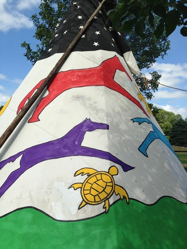 Painted Tipi at Keepers (photo by Erica Volkir)