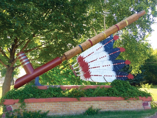 World's Largest Ceremonial Pipe (photo by Erica Volkir)