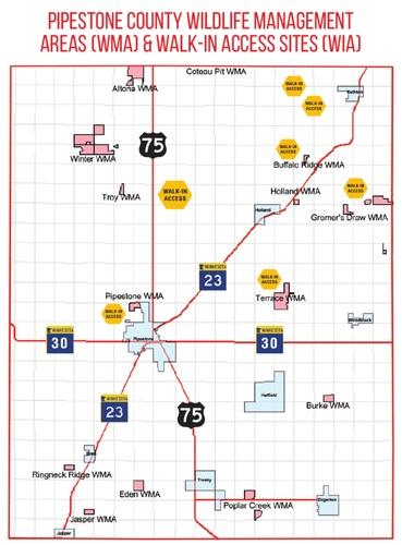Pipestone County 2020 Public Access Map
