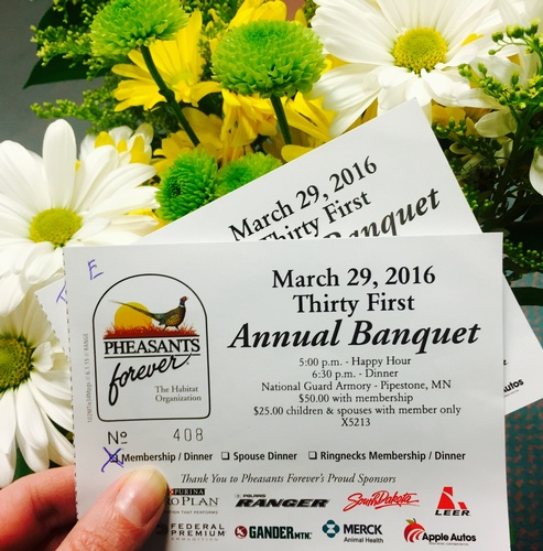 Pipestone County Pheasants Forever Annual Banquet Tickets - Photo by Erica Volkir