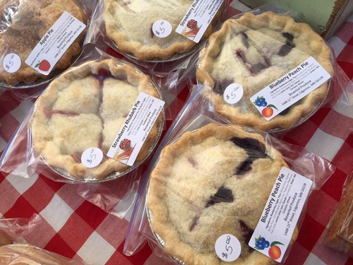 Pies at Pipestone Farmers Market - Photo by Erica Volkir
