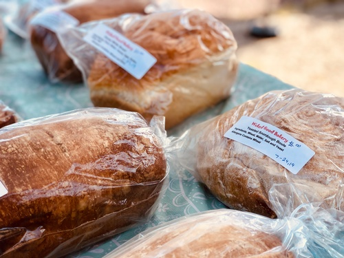 Homemade Bread at Pipestone Farmers Market - Photo by Erica Volkir
