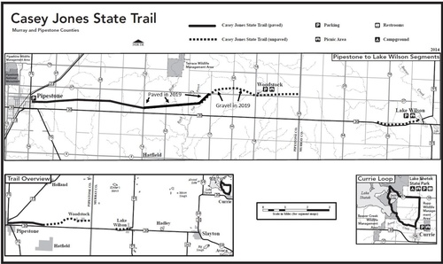 Map of Casey Jones State Trail as of Dec. 2019