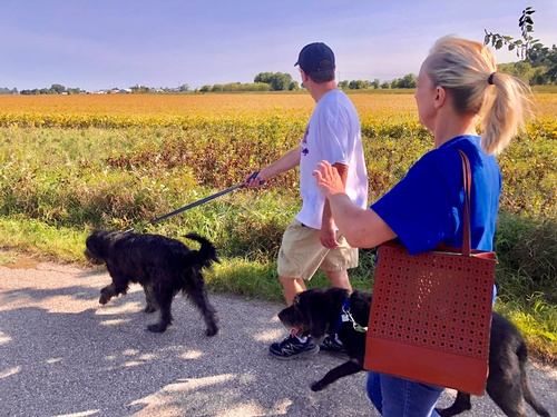 Family walking on mile 1 of Casey Jones State Trail - Pipestone Segment - Photo by Erica Volkir