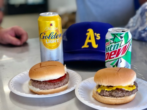Burgers & Beverages at the New Concession Stand (photo by Erica Volkir)