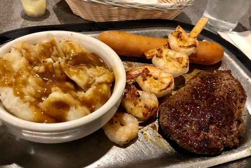 Surf & Turf at Lange's Cafe & Bakery (photo by Erica Volkir)