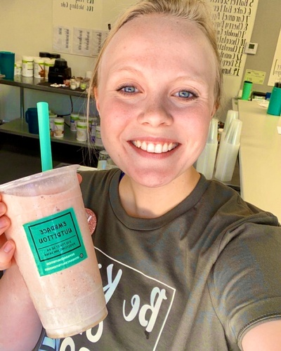 Brooke Sorensen with Shake
