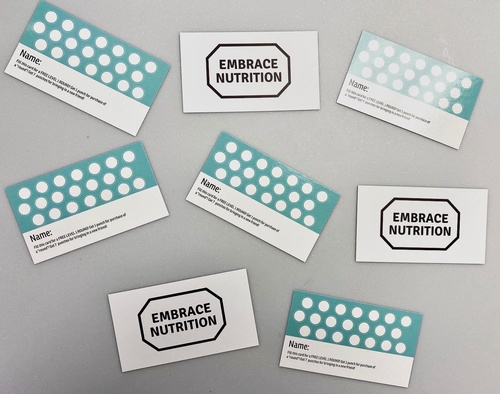 Embrace Nutrition Loyalty Cards