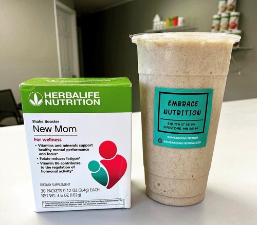 Meal Replacement Shake and Herbalife Product for New Moms