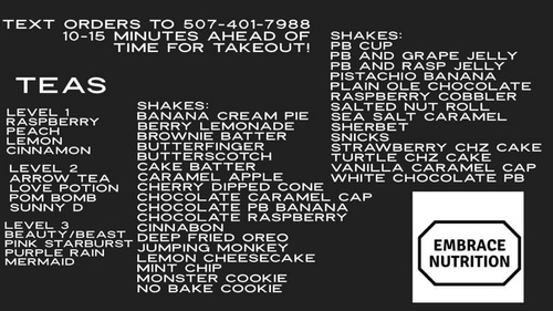 2020 Menu and Ordering Instructions