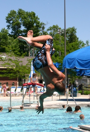 Doing Flips off the Diving Board!