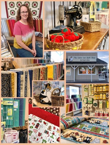 The Calico Cat Quilt Shop collage