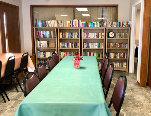 Main Room and Lending Library - Photo by Erica Volkir