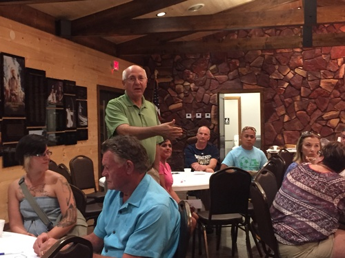 Pipestone Forward Chair Dale Roemmich Facilitating Community Conversation - August 18, 2016 - Photo: Erica Volkir