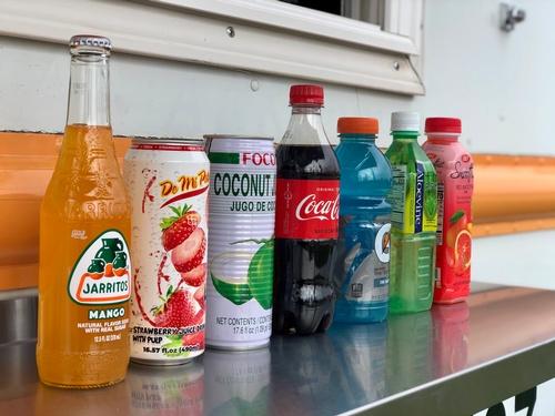 Beverages offered at Taqueria El Tarasco Food Truck