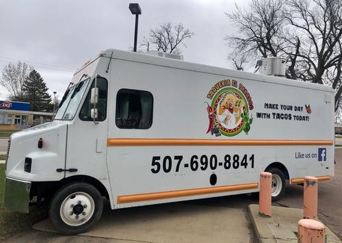 Taqueria El Tarasco Food Truck on Highway 75/23 across from Dairy Queen