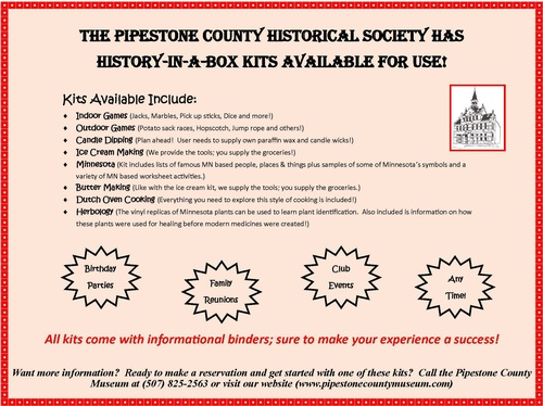 Eight History Kits Now Available for Checkout