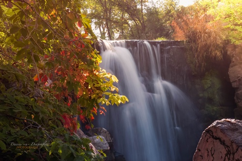 Autumn's Kiss of Winnewissa Falls - Photo by Linda Flanagan