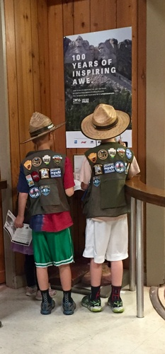 Junior Rangers at Pipestone National Monument Visitors Center - Photo by Erica Volkir