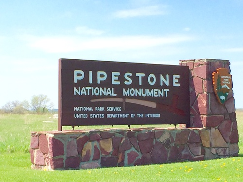 Entrance Sign to Pipestone National Monument
