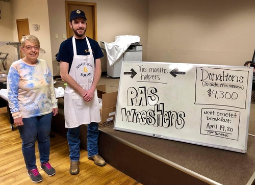 Legion Donation to PAS Wrestling - Photo by Erica Volkir